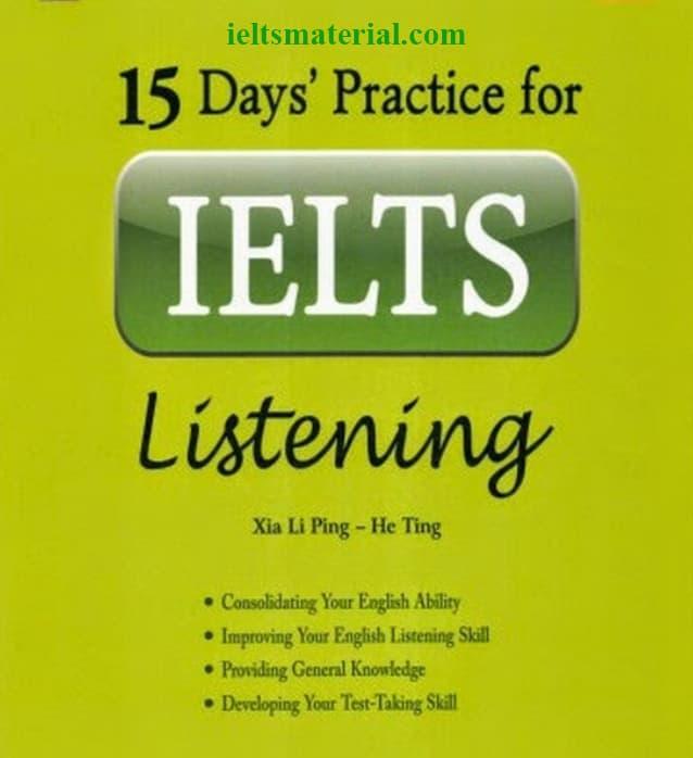 15 Days' Practice for IELTS Listening (Ebook & Audio)