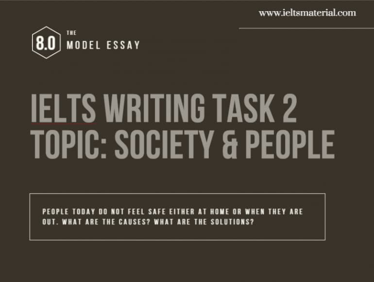 IELTS Writing Task 2 Cause/Solution Essay of Band 8.0 - Topic: People & Society