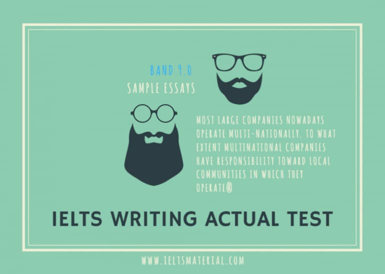 IELTS Writing Actual Test in June, 2016 & Band 9.0 Sample - Corporate Social Responsibility