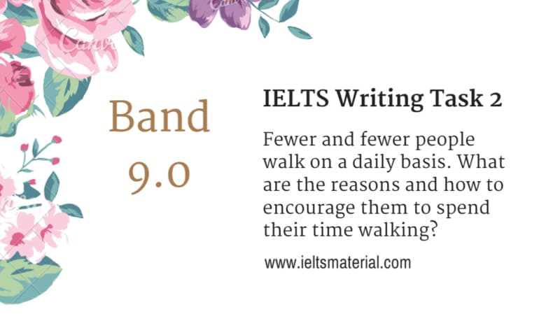 IELTS Writing Task 2 Topic - Healthy Lifestyle (in September, 2015) & Band 9.0 Sample Essay