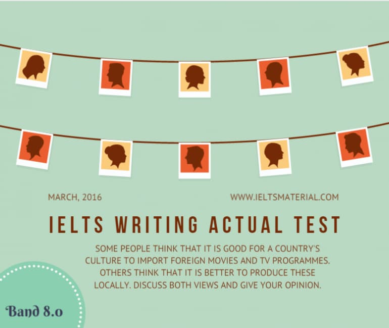 IELTS Writing Actual Test in March, 2016 & Band 8.0 Sample Discursive Essays