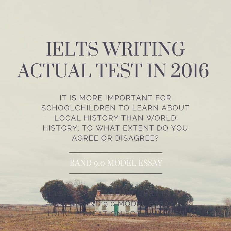 IELTS Writing Actual Test in Jan, 2016 & Band 9.0 Model Essay - Topic: Education for Children