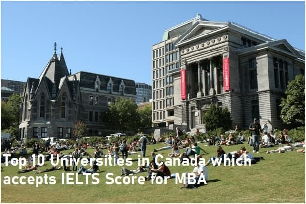Top 10 Universities in Canada which accepts IELTS Score for MBA