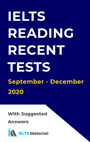 IELTS Reading Actual Test September to December 2020