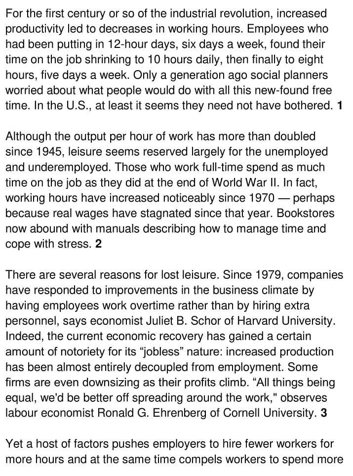 A Workaholic Economy 1