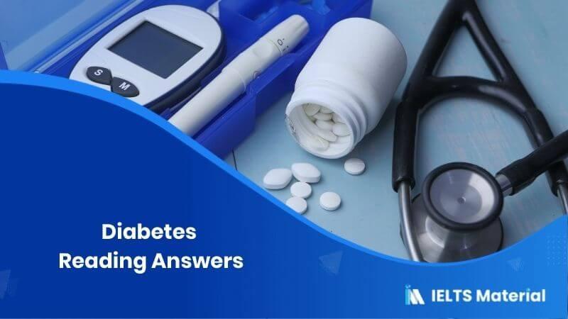Diabetes – IELTS Reading Answers