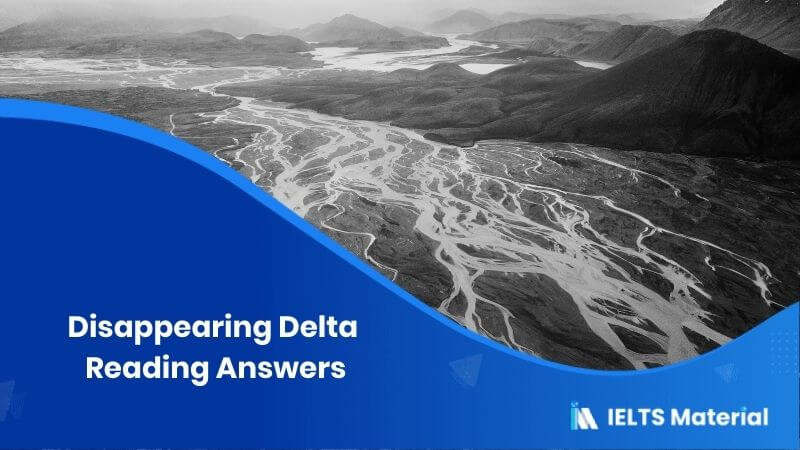 Disappearing Delta Reading Answers
