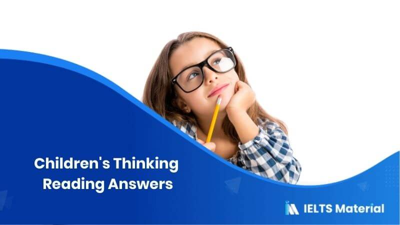 Children's Thinking Reading Answers