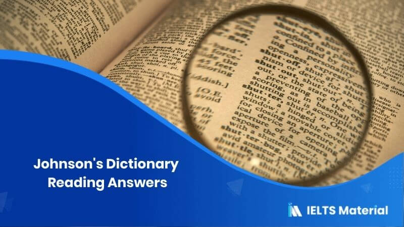Johnson's Dictionary Reading Answers
