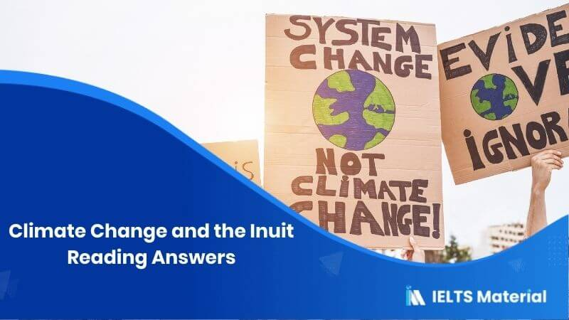 Climate Change and the Inuit Reading Answers