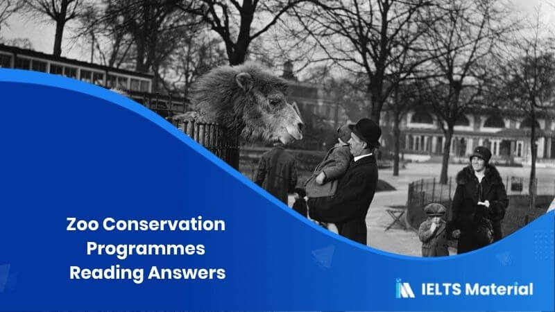 Zoo Conservation Programmes Reading Answers