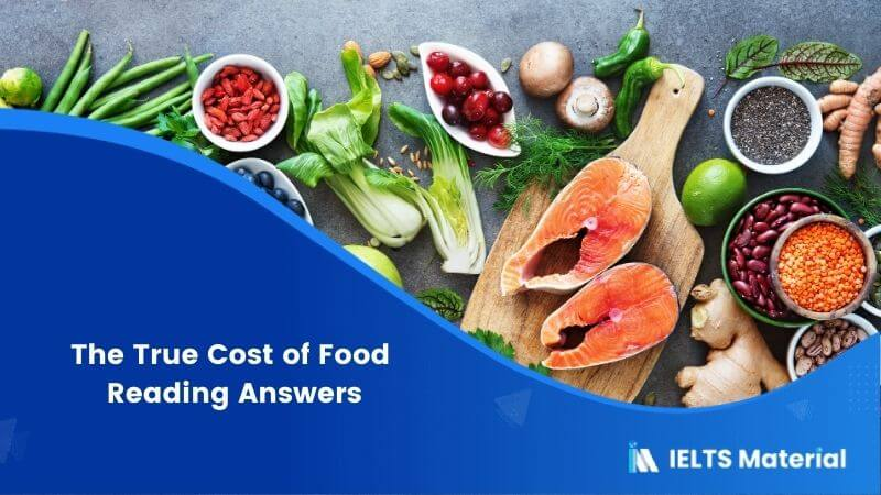 The True Cost of Food Reading Answers