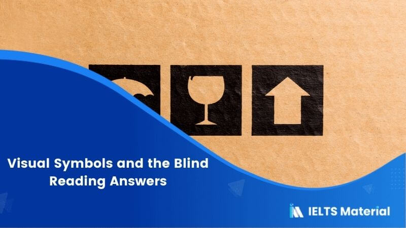 Visual Symbols and the Blind Reading Answers
