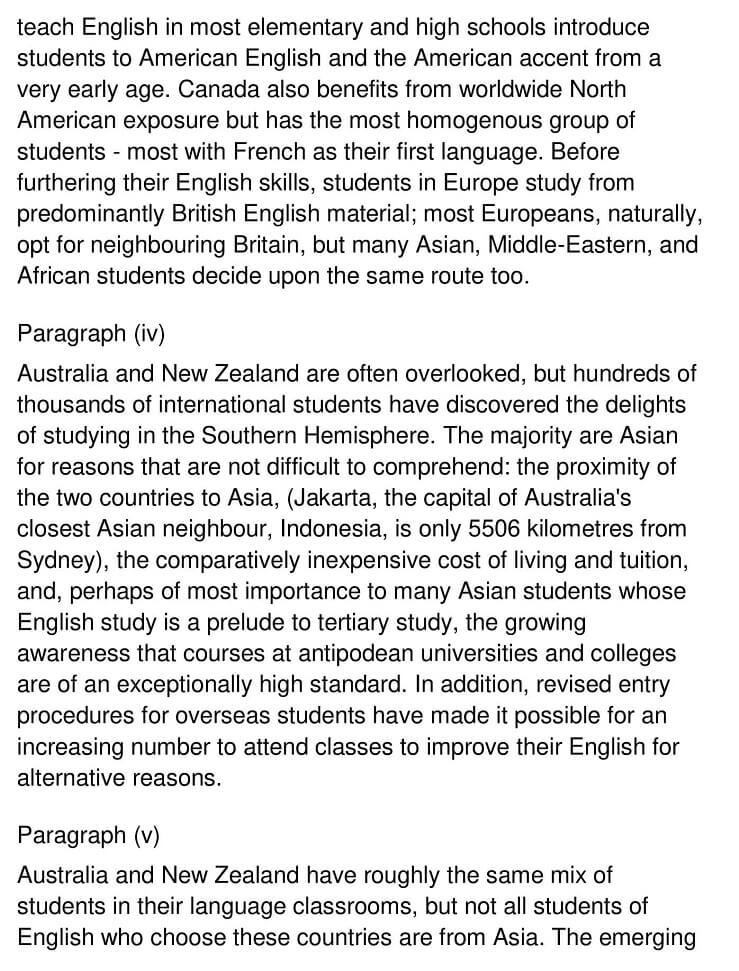 Destinations for International English Students 2