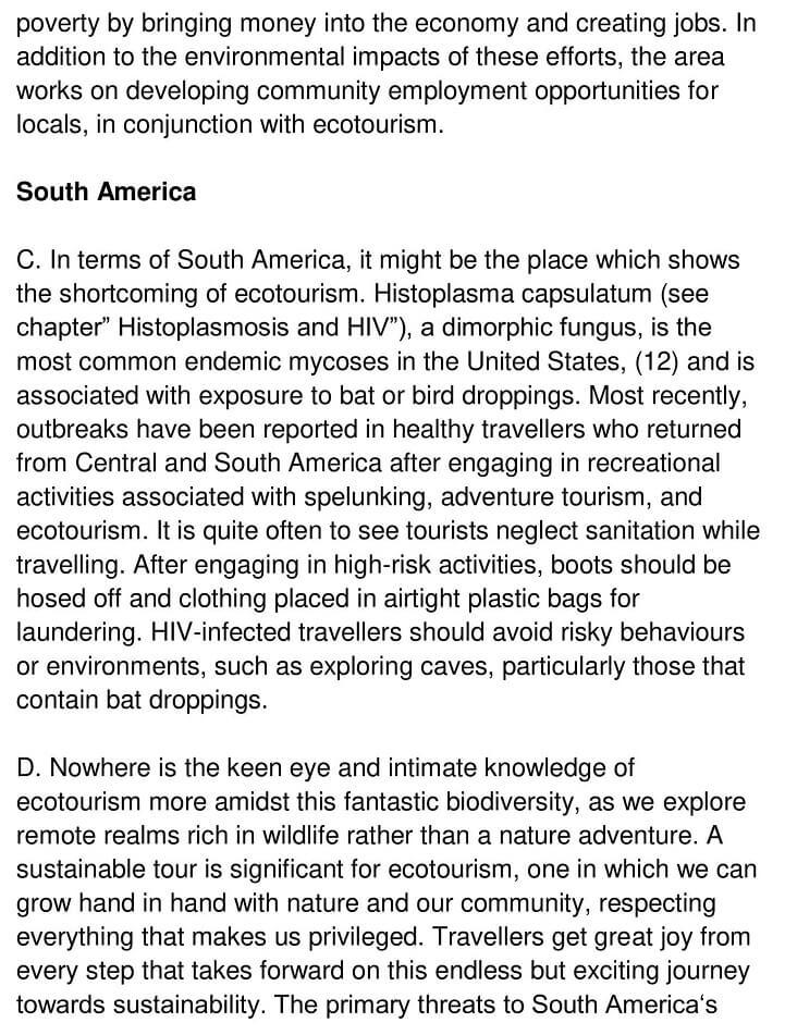 Eco-Tourism 2