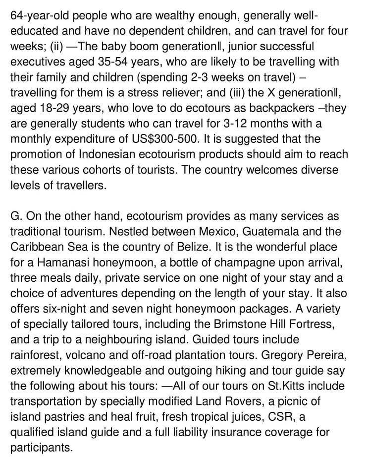 Eco-Tourism 4