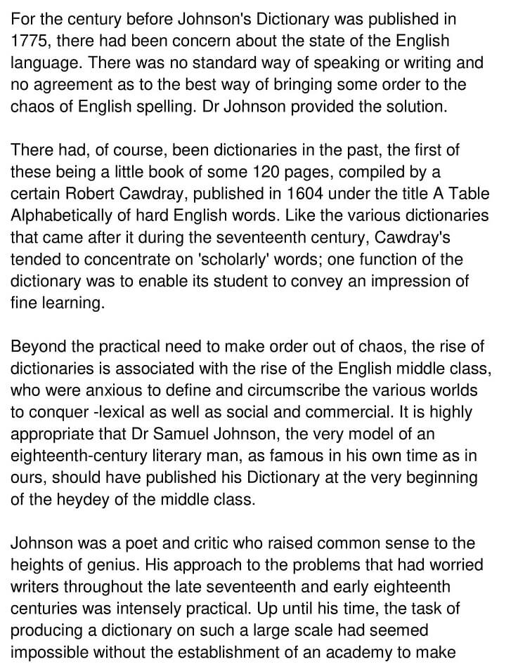 Johnson's Dictionary 1