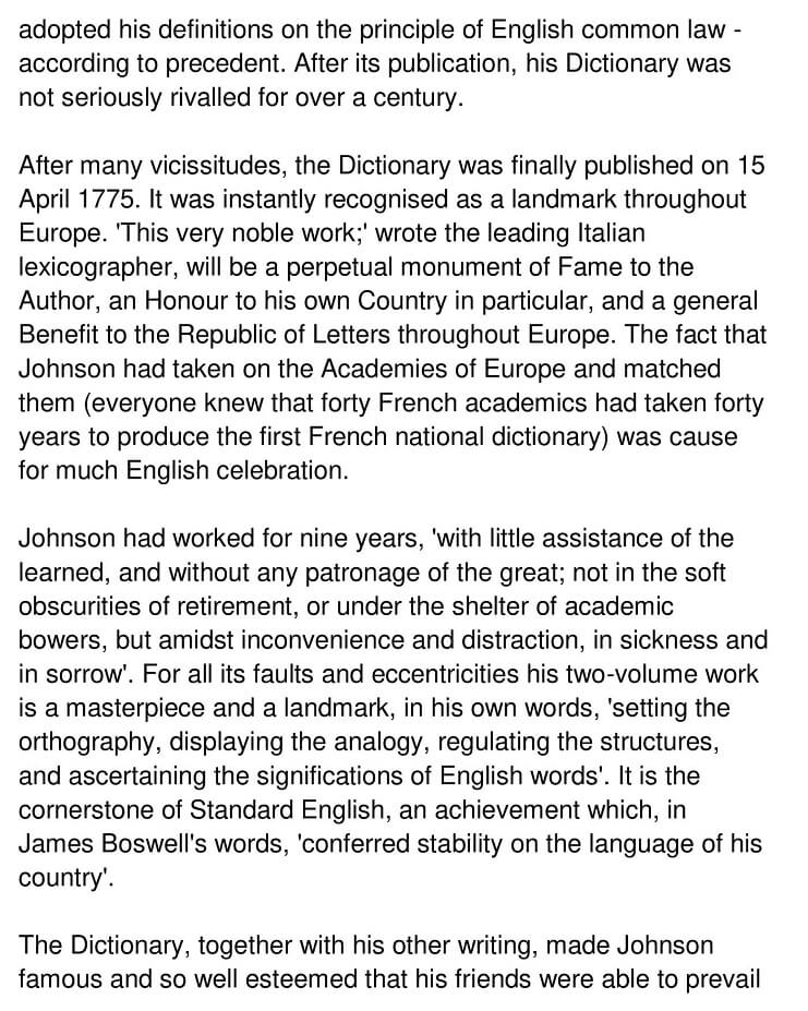 Johnson's Dictionary 3