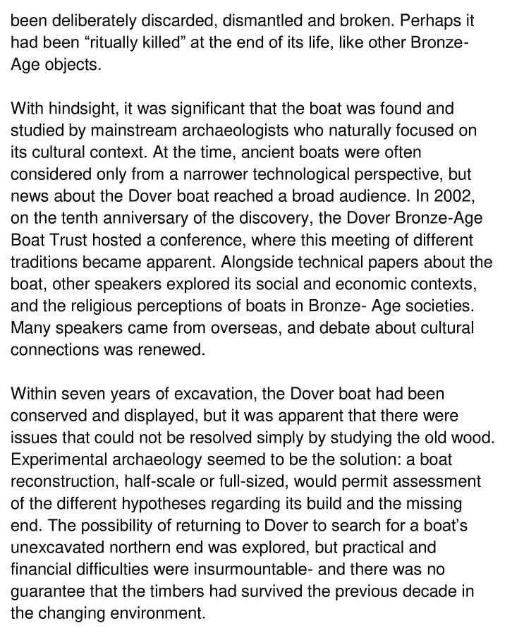 The Dover Bronze Age Boat 2