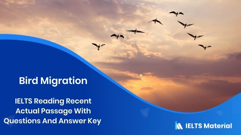 IELTS Reading Recent Actual Passage In 2018 With Questions And Answer Key - Topic : Bird Migration