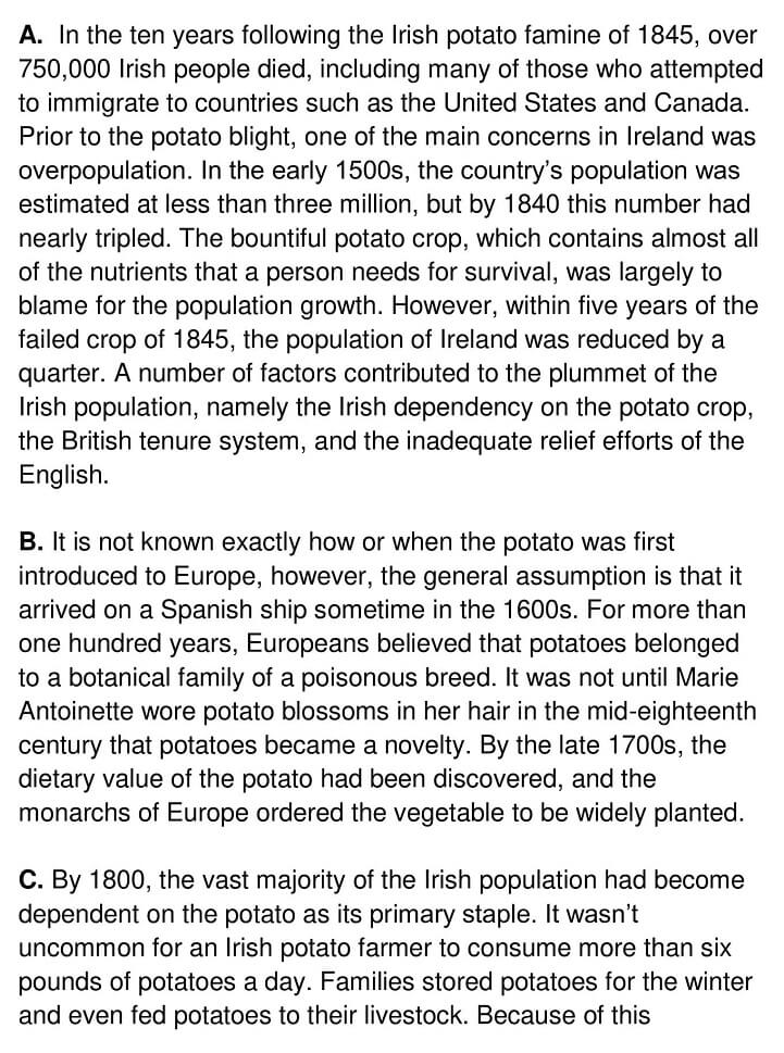Irish Potato Famine - 0001