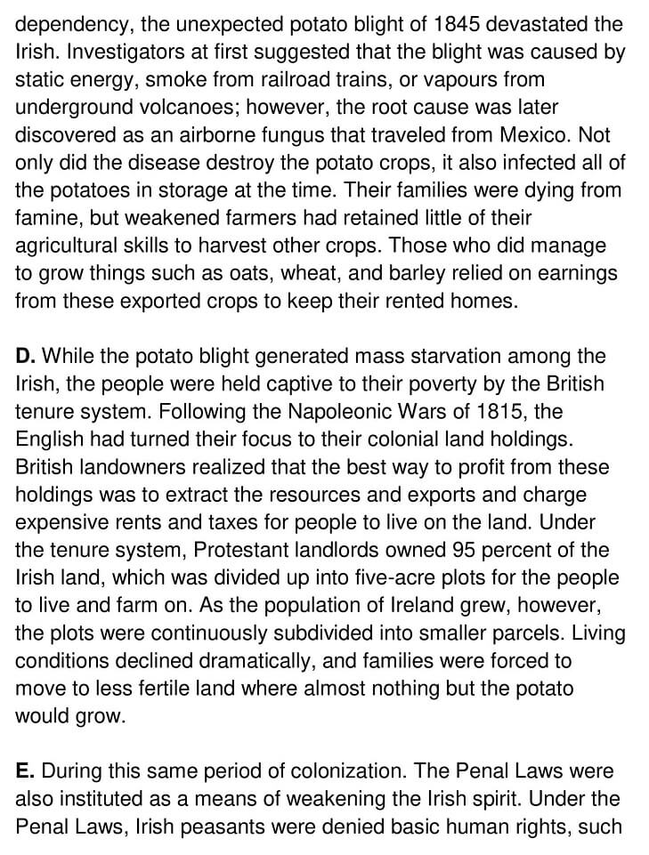 Irish Potato Famine - 0002