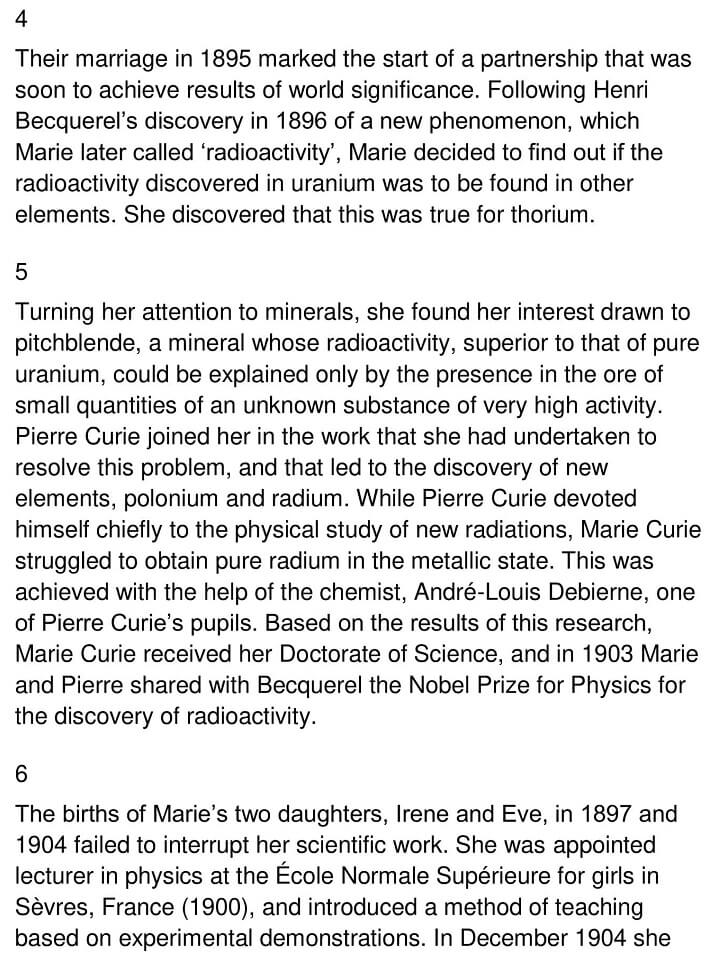 The Life and Work of Marie Curie 2