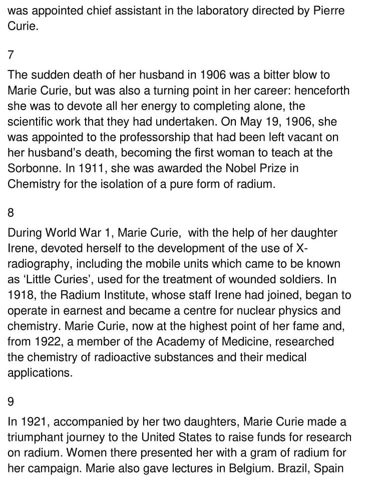 The Life and Work of Marie Curie 3