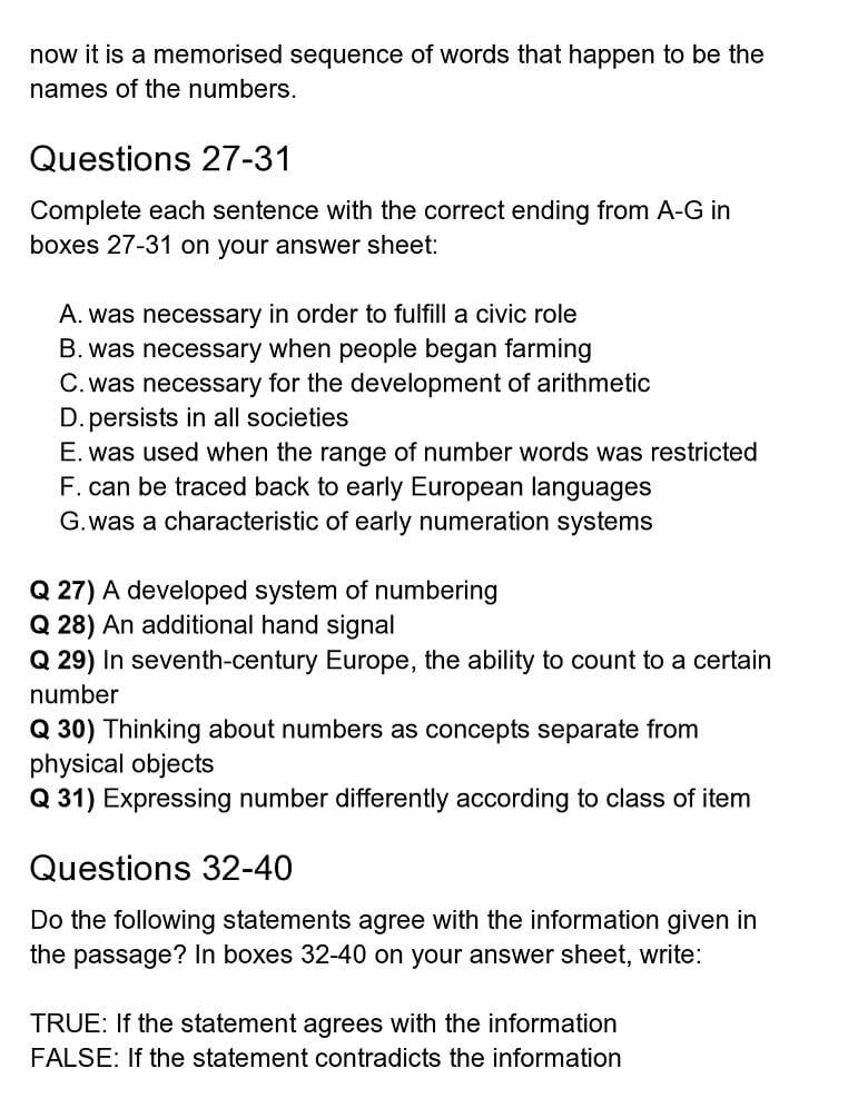 numeric reading answers 4
