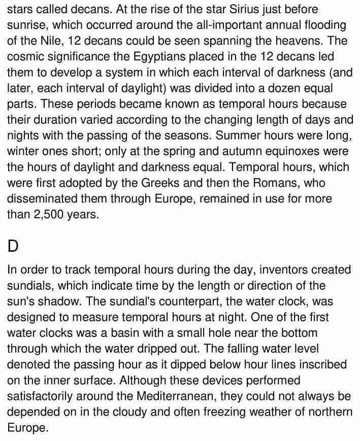 timekeeping - 2