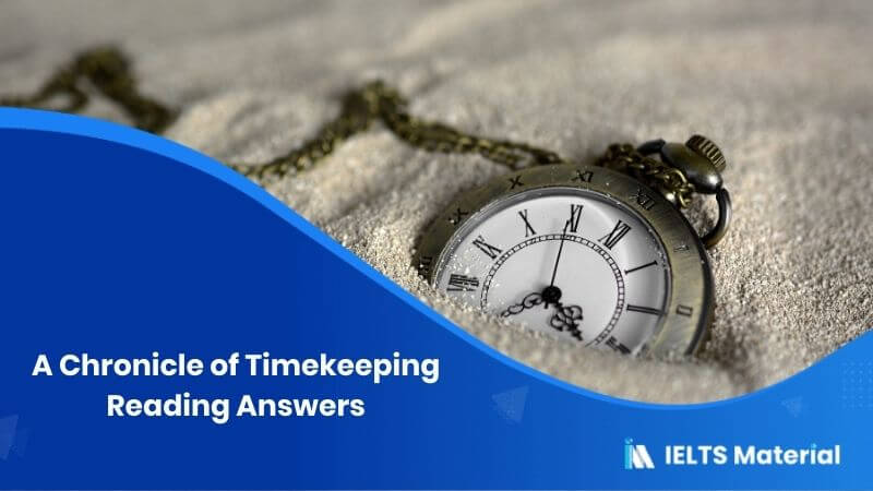 A Chronicle of Timekeeping Reading Answers
