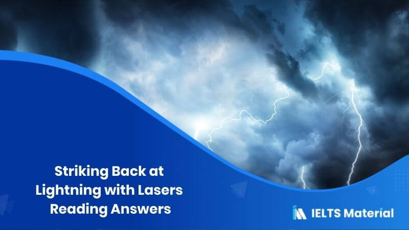 Striking Back at Lightning with Lasers Reading Answers