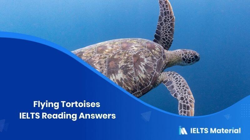 Flying Tortoises IELTS Reading Answers