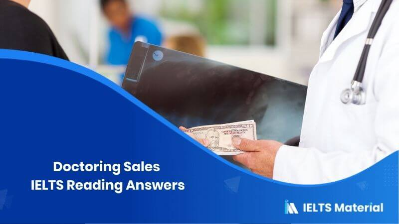 Doctoring Sales IELTS Reading Answers