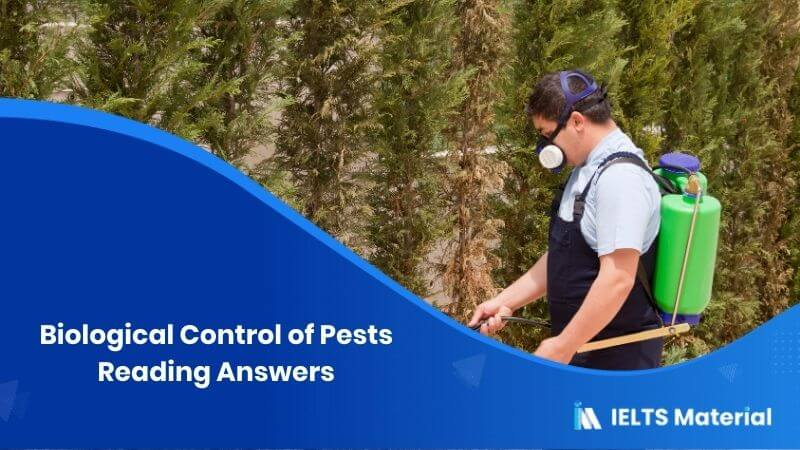 Biological Control of Pests Reading Answers