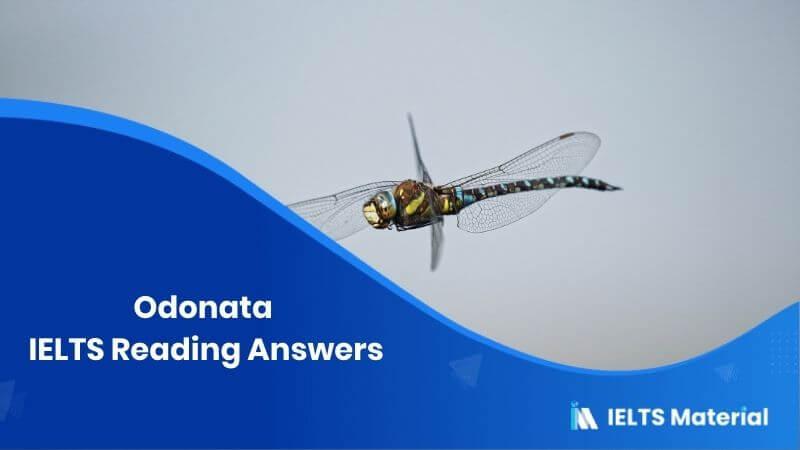 Odonata IELTS Reading Answers