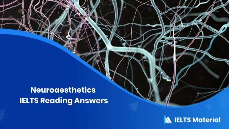 Neuroaesthetics IELTS Reading Answers