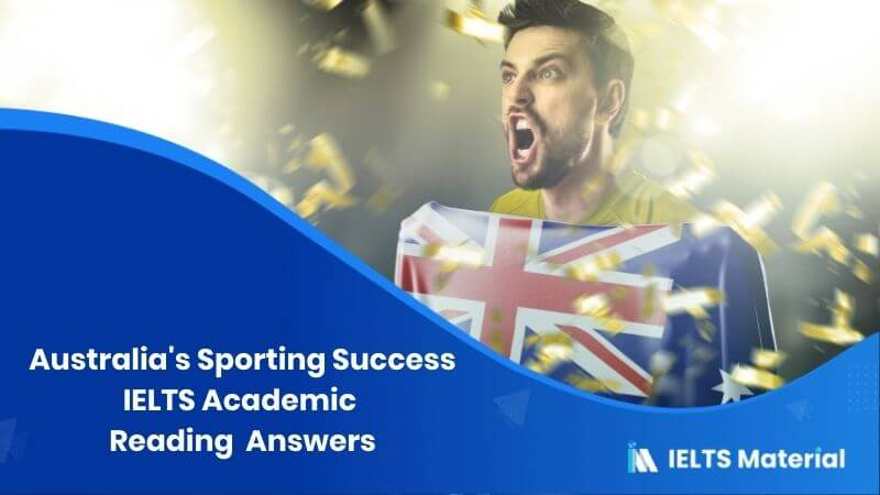 Australia's Sporting Success – IELTS Reading Answers