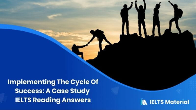 Implementing The Cycle Of Success: A Case Study IELTS Reading Answers