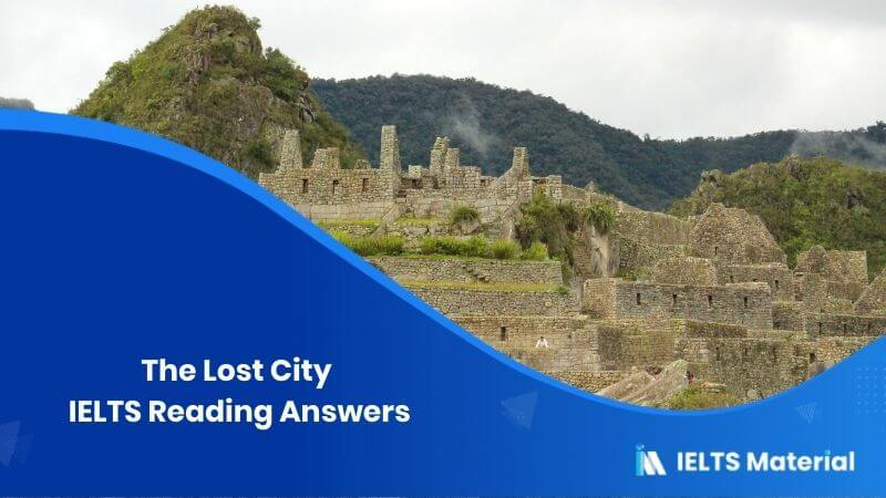 The Lost City Reading Answers