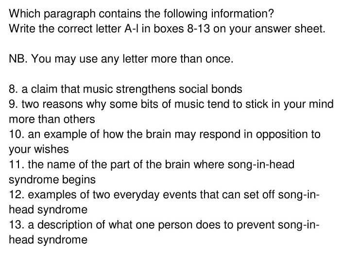'A song on the brain' Answers_0006