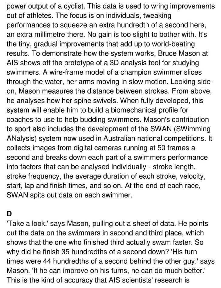 'Australia's Sporting Success' Answers_0002