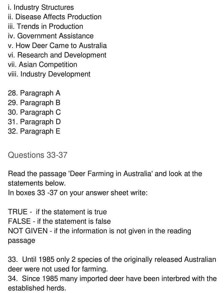 'Deer Farming in Australia' Answers_0005