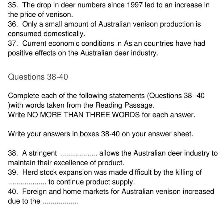 'Deer Farming in Australia' Answers_0006
