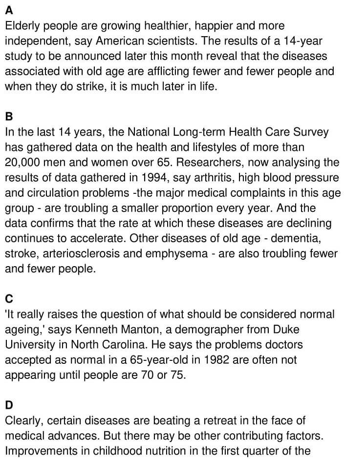 'Greying Population stays in the Pink' Answers_0001