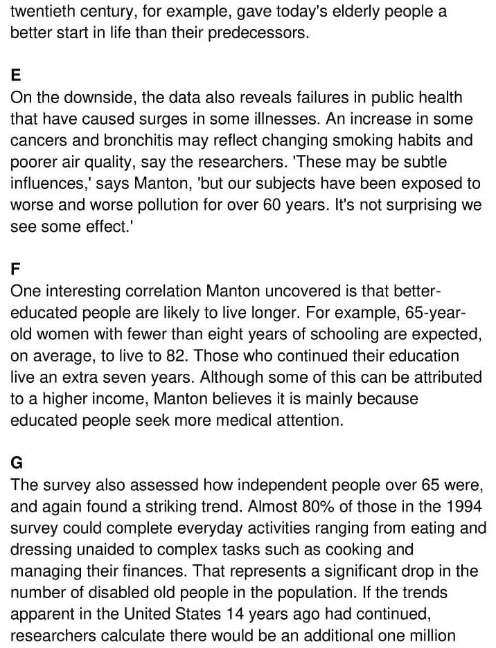'Greying Population stays in the Pink' Answers_0002