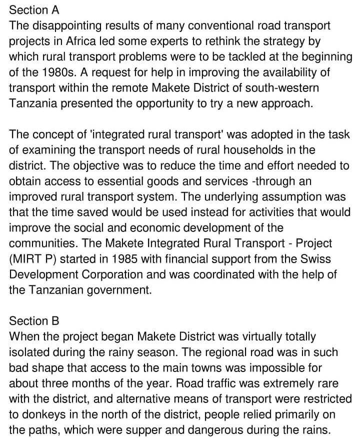 'Makete Integrated Rural Transport Project' Answers_0001