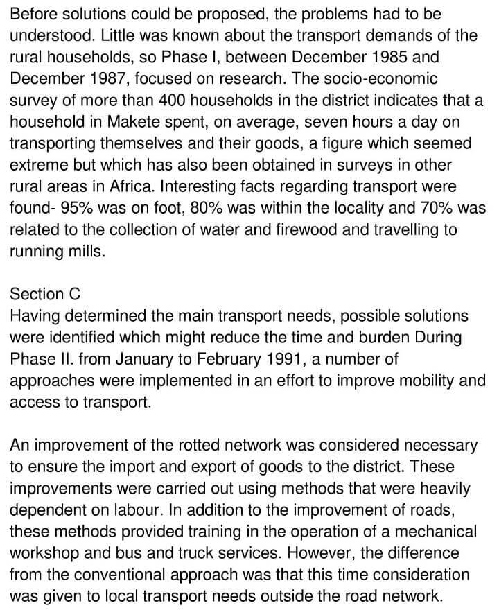 'Makete Integrated Rural Transport Project' Answers_0002