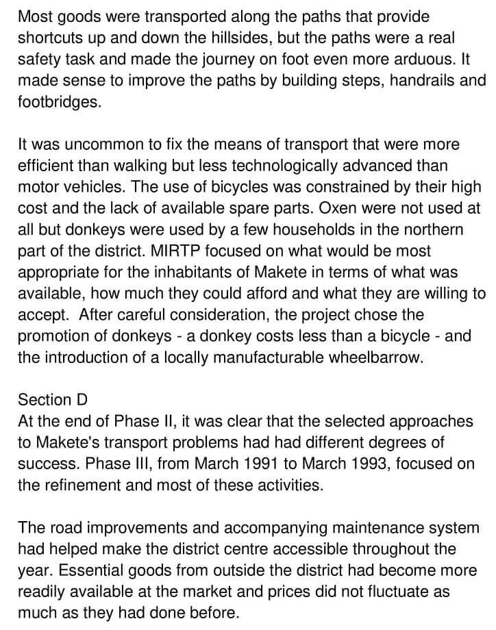 'Makete Integrated Rural Transport Project' Answers_0003