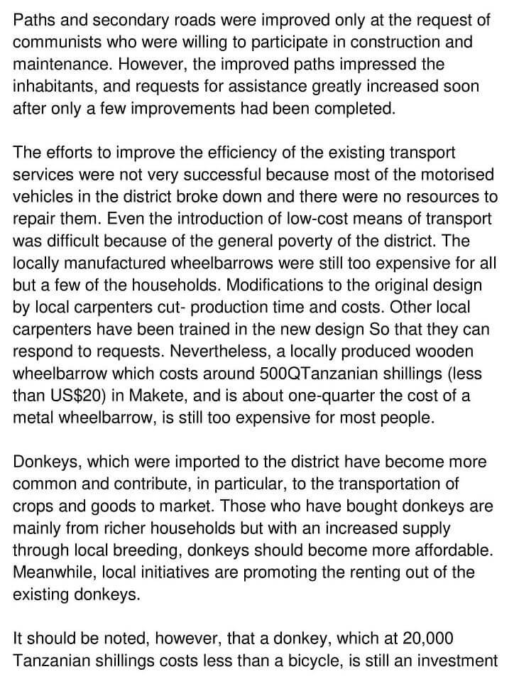 'Makete Integrated Rural Transport Project' Answers_0004
